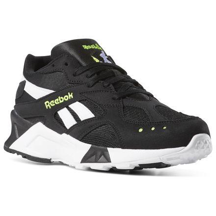 Reebok Aztrek Unisex Retro Running, Lifestyle Shoes in Black