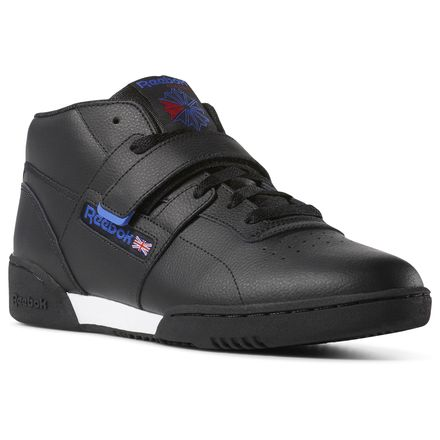 Reebok Workout Clean Mid Strap Men's Casual Shoes in Black