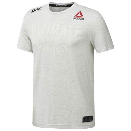 Reebok UFC Fight Night Walkout Jersey Men's MMA T-Shirt in Chalk