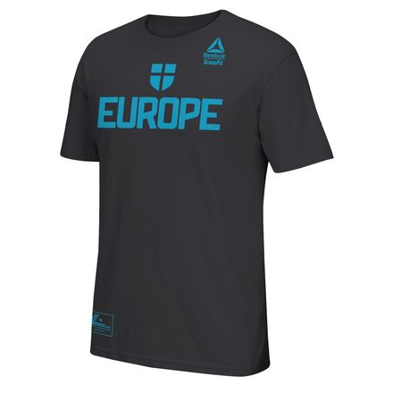 Reebok Team Europe Invitational Practice Tee Men's Training T-Shirt in Black