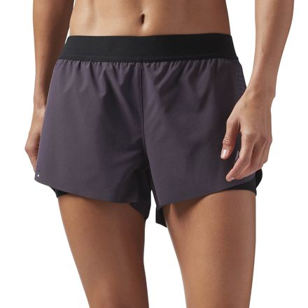 Reebok Women's Training 2-in-1 Perforated Shorts in Smoky Volcano