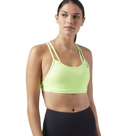 Reebok Hero Women's Studio Strappy Padded Bra in Electric Flash