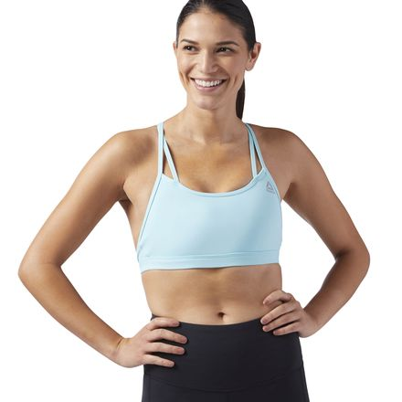 Reebok Hero Women's Studio Strappy Padded Bra in Blue Lagoon