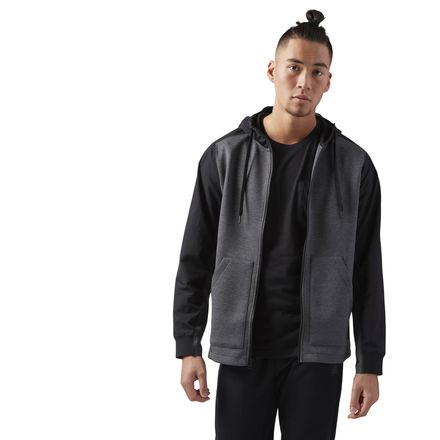 Reebok Training Supply Men's Speedwick Hoodie in Dark Grey