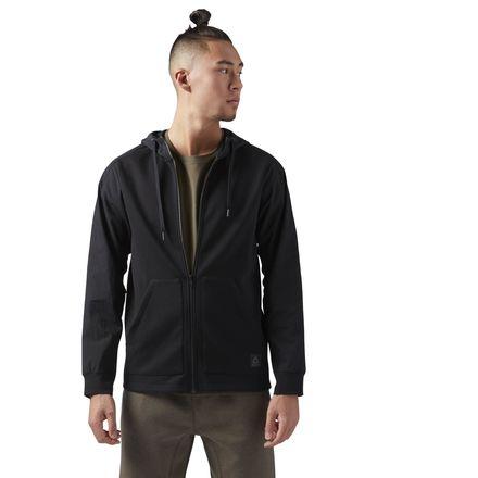 Reebok Training Supply Hoodie Men's Jacket in Black