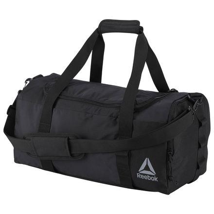Reebok Enhanced 20in Unisex Workout Training Duffle Bag in Black