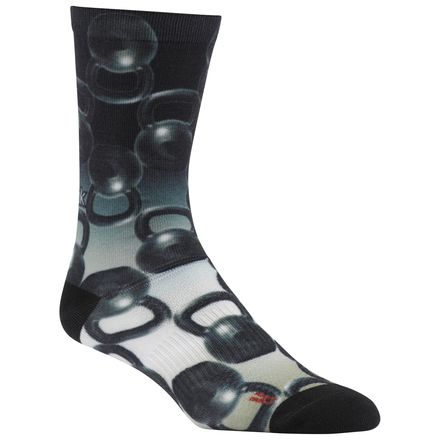 Reebok Enhanced Kettlebell Unisex Training Crew Socks in Black