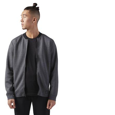 Reebok Training Supply Varsity Men's Jacket in Dark Grey
