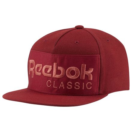 Reebok Classics Foundation Casual Unisex Hat in Rich Magma Red / Clay Tint