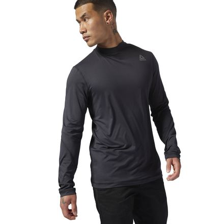 Reebok Men's Outdoor THERMOWARM TOUCH Base Layer Top in Black