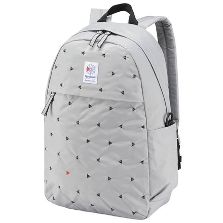 Reebok Classic Casual Graphic Backpack in Solid Grey