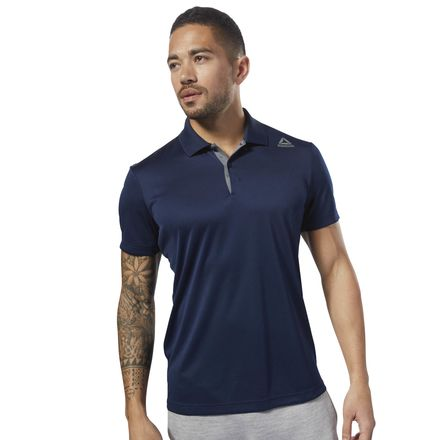 Reebok Sport Essentials Men's Lifestyle Polo Shirt in Collegiate Navy