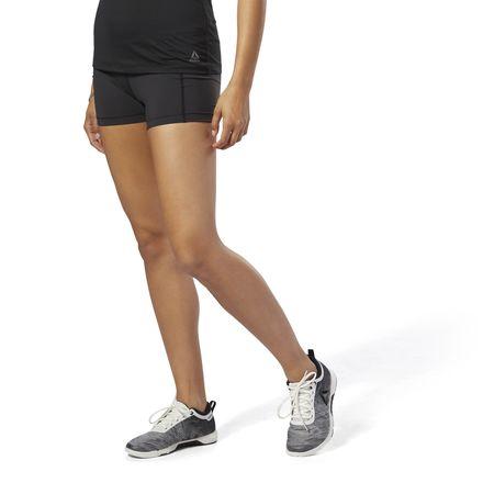 Reebok Women's Training 3in lux Bootie Shorts in Black