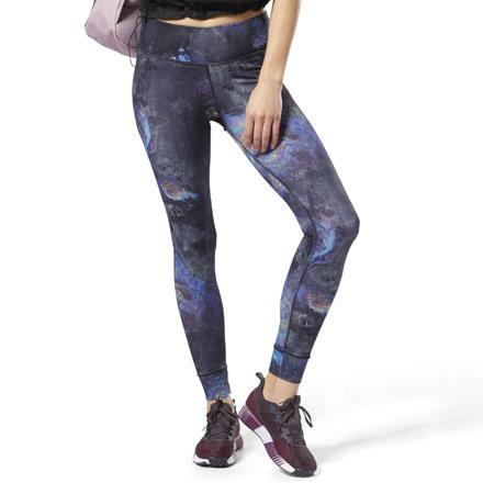 Reebok Lux Bold Women's Training Leggings - Oil Slick in Black