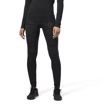 Reebok Women's Training Thermowarm Seamless Tights Leggings in Black