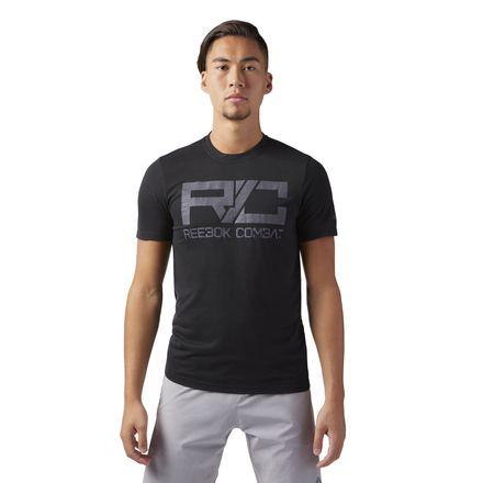 Reebok Combat Mark Men's Gym T-Shirt in Black