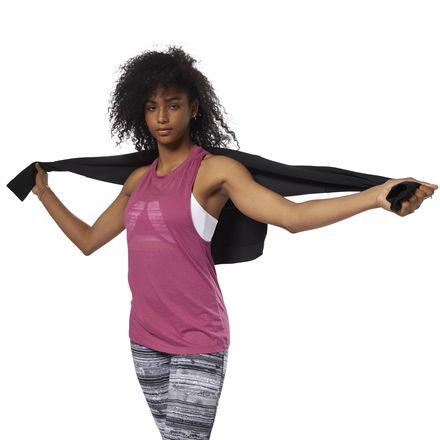 Reebok Women's Training Burnout Tank Top in Twisted Berry