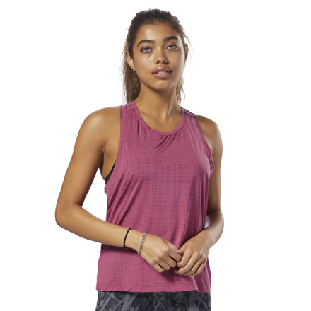 Reebok Perforated Speedwick Women's Training Tank Top in Twisted Berry