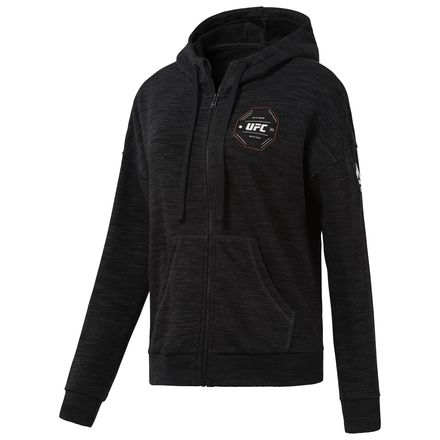 Reebok UFC FG Women's MMA Full-Zip Hoodie in Black