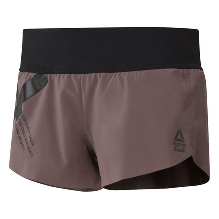 Reebok CrossFit Women's Training Knit Waistband Shorts - Graphic in Almost Grey