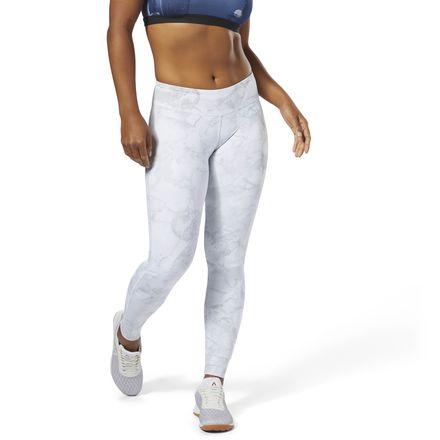 Reebok CrossFit Lux Tights Women's Training Leggings - Stone Camo in White