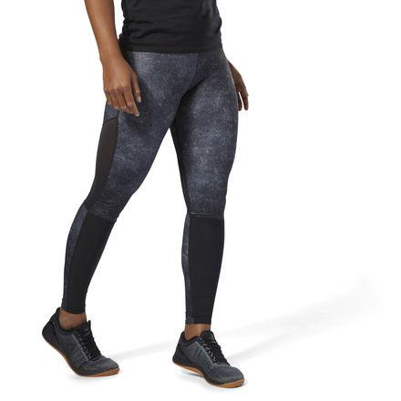 Reebok CrossFit Compression Tights AOP Women's Training Leggings in Black