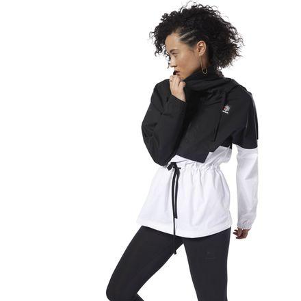 Reebok Classics Women's Casual, Lifestyle Advanced Anorak in Black / White