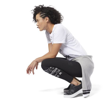 Reebok Classics Women's Casual, Lifestyle Graphic Leggings - International in Black