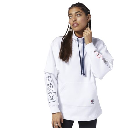 Reebok Classics Women's Casual, Lifestyle Oversize Hoodie in White