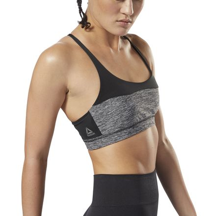 Reebok Women's Training Mélange Tri-Back Sports Bra in Black