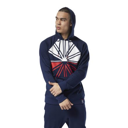 Reebok Classics Starcrest Men's Casual Hoodie in Collegiate Navy
