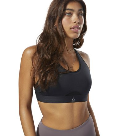 Reebok Women's Studio Hero Power Sports Bra in Black