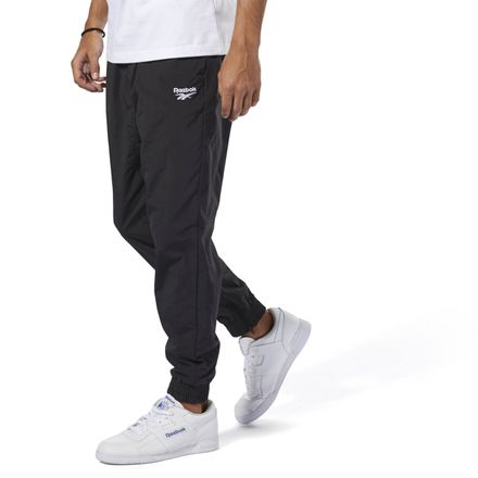 Reebok Vector Logo Men's Casual, Lifestyle Track Pants in Black