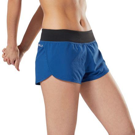 """Reebok LES MILLS™ 2"""" Women's Woven Studio Shorts in Bunker Blue"""