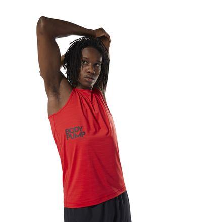 Reebok LES MILLS™ BODYPUMP ACTIVCHILL Men's Studio Tank in Primal Red