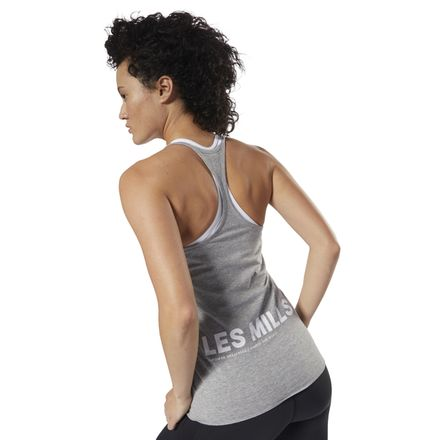 20490c24633d7 Reebok LES MILLS™ Women s Studio Skinny Tank Top in Grey ...