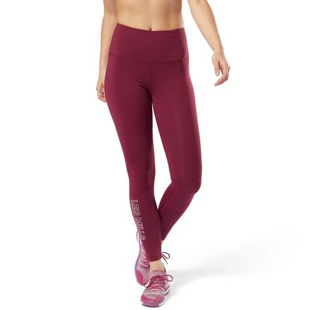 Reebok LES MILLS™ Women's Studio Lux High-Rise Tights in Rustic Wine