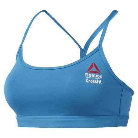 Reebok CrossFit Games Women's Strappy Sports Bra in Blue