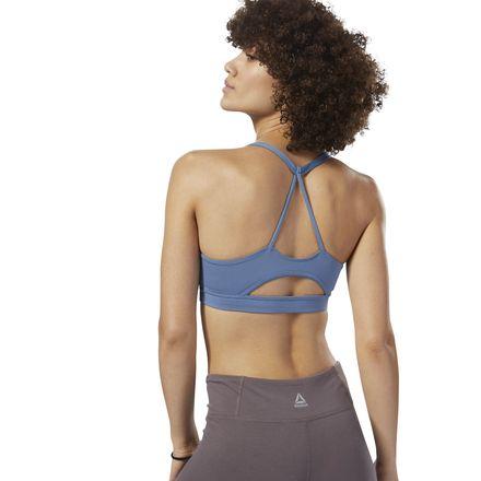 Reebok Women's Training Workout Ready Sports Bra in Blue Slate