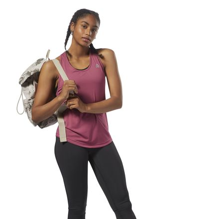 Reebok Performance Women's Training Mesh Tank Top Top in Twisted Berry
