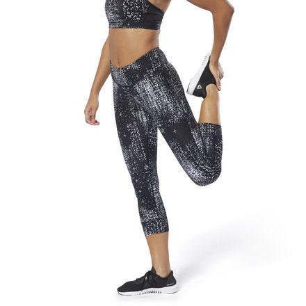 Reebok Women's Training Lux 3/4 Tights Leggings in Black