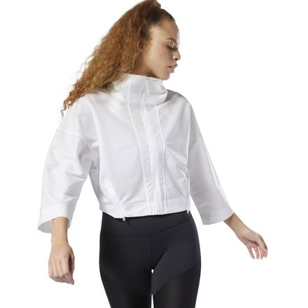 Reebok Women's Studio Cardio Jacket in White