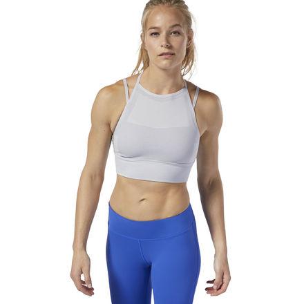 Reebok CrossFit® Women's Training MyoKnit Sports Bra in Light Grey