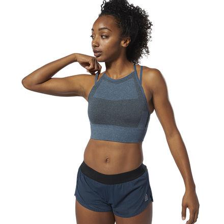 Reebok CrossFit® Women's Training MyoKnit Sports Bra in Blue Hills