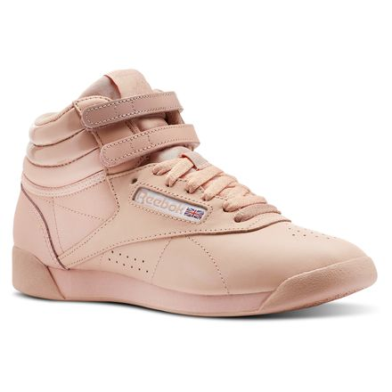 Reebok Freestyle Hi x GLOW Women's Fitness, Lifestyle Shoes in Rose Gold