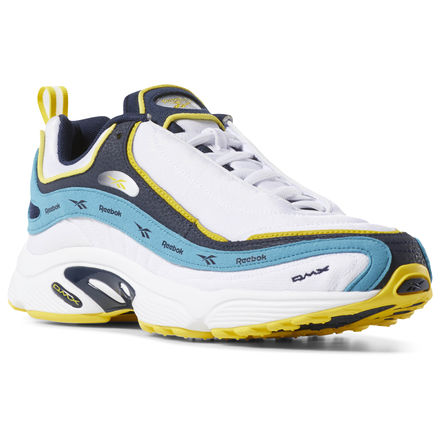 Reebok Unisex Retro Running Shoes Daytona DMX Vector in White / Navy