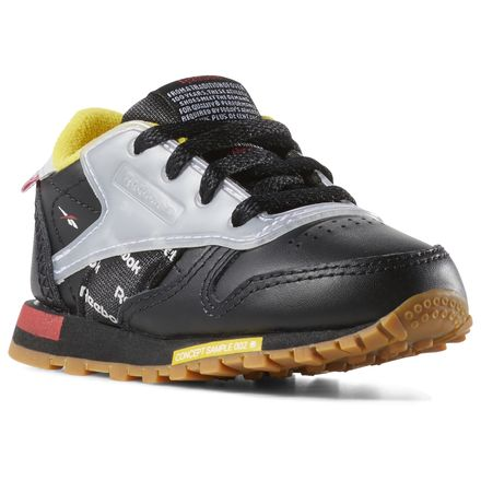 Reebok Classic Leather Altered - Toddlers Retro Running Shoes in Black