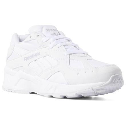 Reebok Aztrek Unisex Retro Running Shoes in White