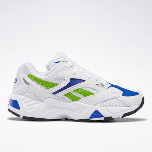 Reebok Aztrek 96 Women's Retro Running Shoes in White / Blue