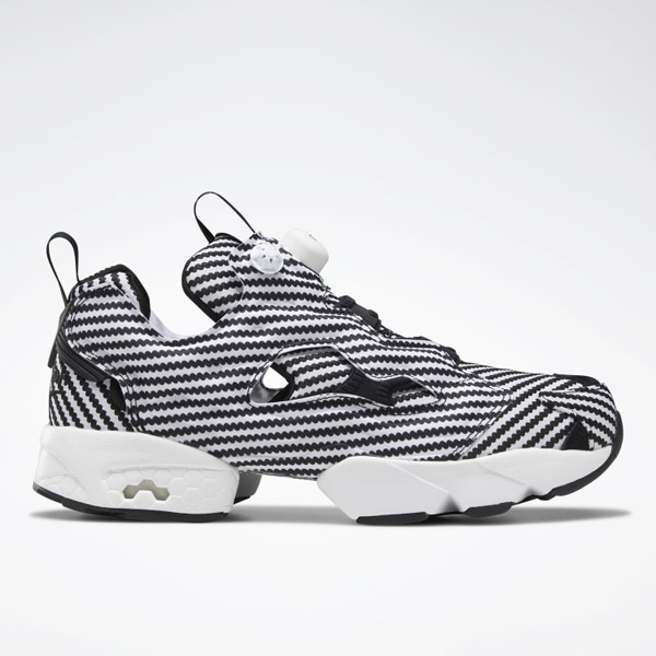 Reebok Instapump Fury Unisex Retro Running, Lifestyle Shoes in Black / White